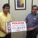 Fecomércio faz doação de placas a Secretaria de Segurança Pública
