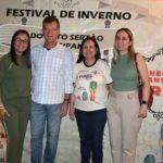Laércio Oliveira e diretoras do Sesc e Senac prestigiam o Festival de Inverno do Alto Sertão